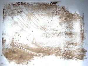 Acrylic white and Burnt umber